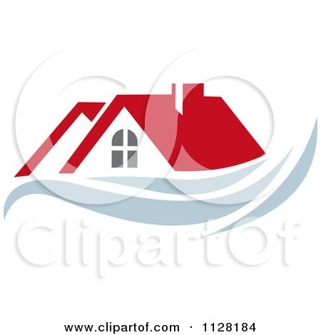 Clipart Of Houses With Roof Tops 7 - Royalty Free Vector Illustration by Vector Tradition SM