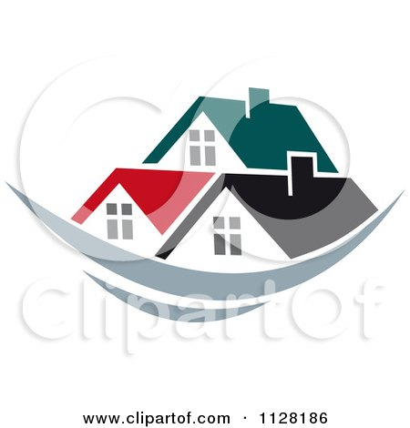 Clipart Of Houses With Roof Tops 9 - Royalty Free Vector Illustration by Vector Tradition SM