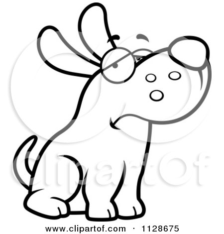 cartoon clipart of an outlined depressed dog sitting black and rh clipartof com old depressed cartoon dog blue depressed dog cartoon