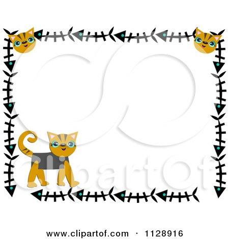 Royalty Free RF Cat Border Clipart Illustrations Vector Graphics