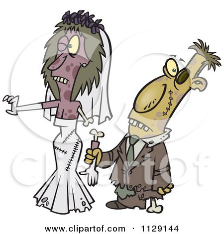 Zombie Wedding Bride And Groom Couple Posters, Art Prints