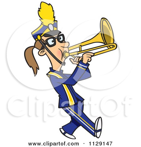 Marching Band Clipart Clarinet Cartoon Of A Marching ...