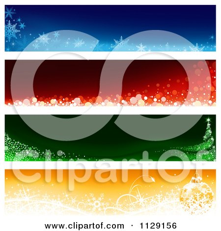 Clipart Of Christmas Website Banners 1 - Royalty Free Vector Illustration by dero
