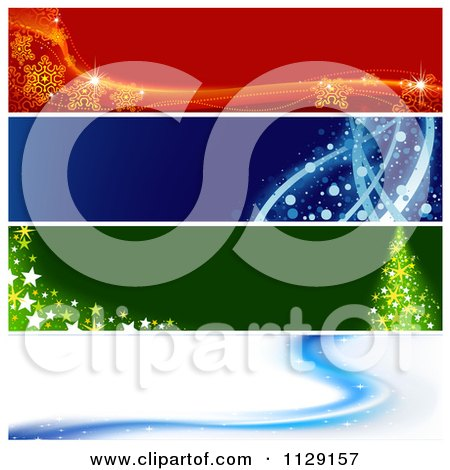 Clipart Of Christmas Website Banners 2 - Royalty Free Vector Illustration by dero