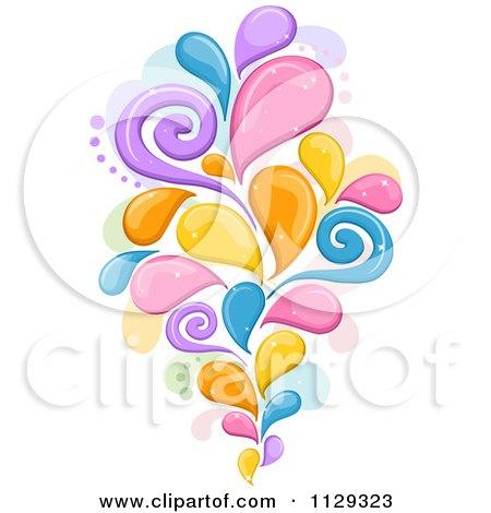 Cartoon Of A Colorful Splash Design - Royalty Free Vector Clipart by BNP Design Studio