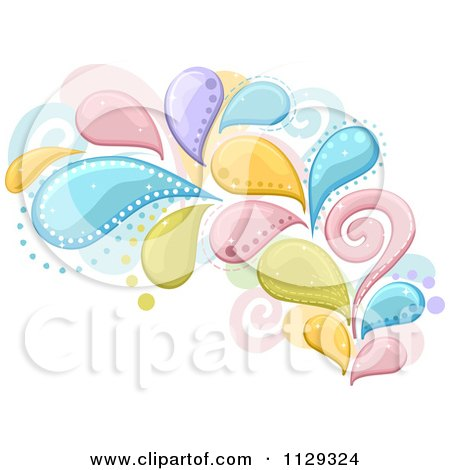 Cartoon Of A Colorful Splash And Swirl Design - Royalty Free Vector Clipart by BNP Design Studio