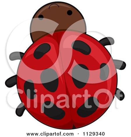 Cartoon Of A Cute Ladybug - Royalty Free Vector Clipart by BNP Design Studio