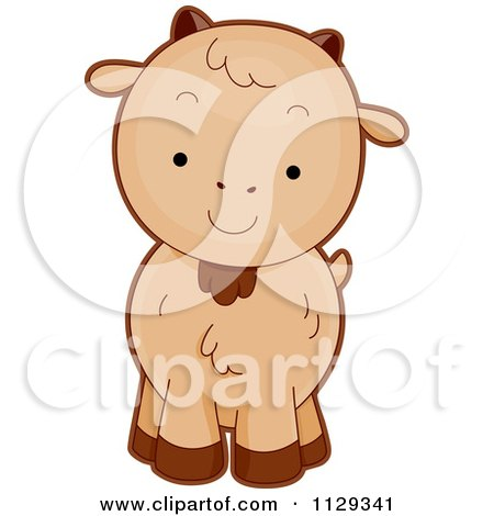 Cartoon Of A Cute Goat - Royalty Free Vector Clipart by BNP Design Studio