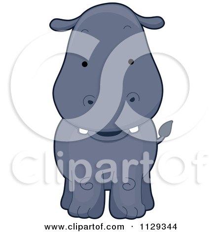 Cartoon Of A Cute Hippo - Royalty Free Vector Clipart by BNP Design Studio