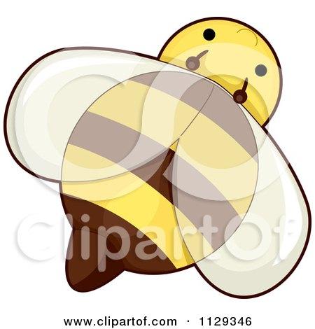 Cartoon Of A Cute Honey Bee - Royalty Free Vector Clipart by BNP Design Studio