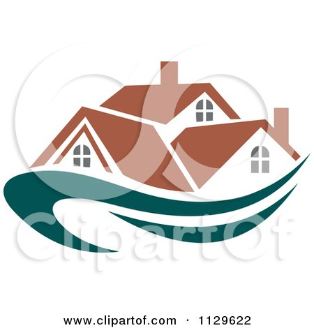 Clipart Of Houses With Roof Tops 12 - Royalty Free Vector Illustration by Vector Tradition SM