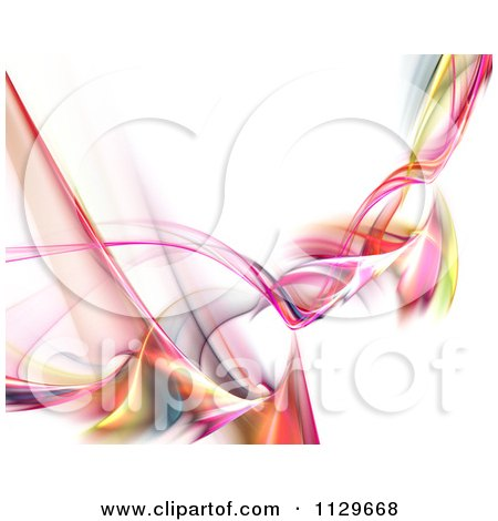 Clipart Of A Colorful Swirling Fractal Smoke Background - Royalty Free CGI Illustration by Arena Creative