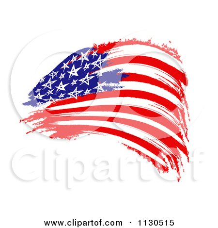 Clipart Of A Painted American Flag - Royalty Free CGI Illustration by MacX
