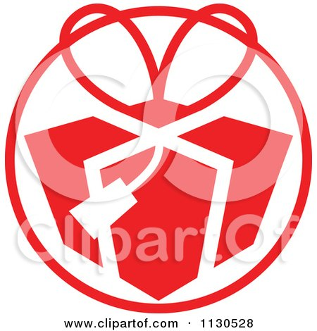 Cartoon Of A Round Red Christmas Gift Avatar - Royalty Free Vector Clipart by Zooco