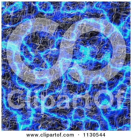 Clipart Of A Seamless Blue Alien Electrical Storm Texture Background Pattern 14 - Royalty Free CGI Illustration by Ralf61