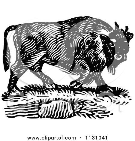 Bison Mascot Clip Art