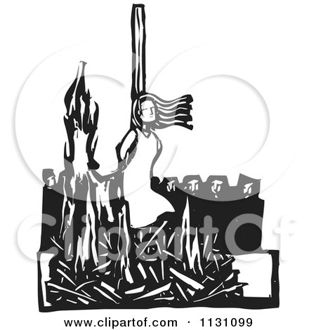 RoyaltyFree RF Clipart of Salem Witch Trials Illustrations Vector Graphics 1