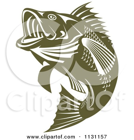 clipart of a retro black and white largemouth bass fish Wide Mouth Bass Clip Art Bass Clip Art Black and White