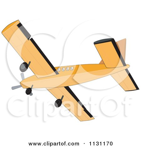 Clipart Of A Retro Cessna Airplane - Royalty Free Vector Illustration by patrimonio