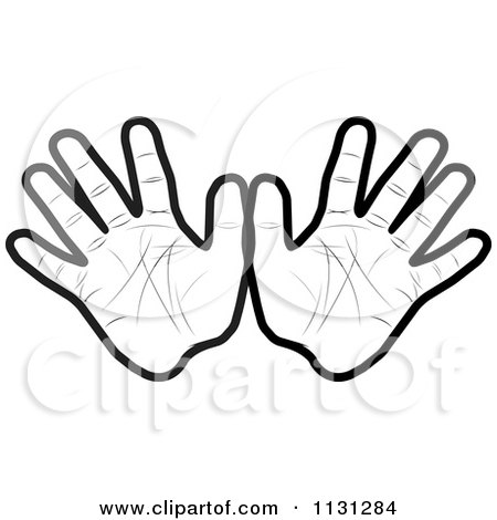 Clipart Of Black And White Hands - Royalty Free Vector ...