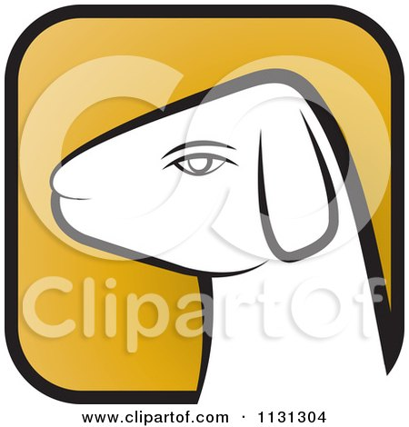 Clipart Of A Ram Goat Head Icon 1 - Royalty Free Vector Illustration by Lal Perera