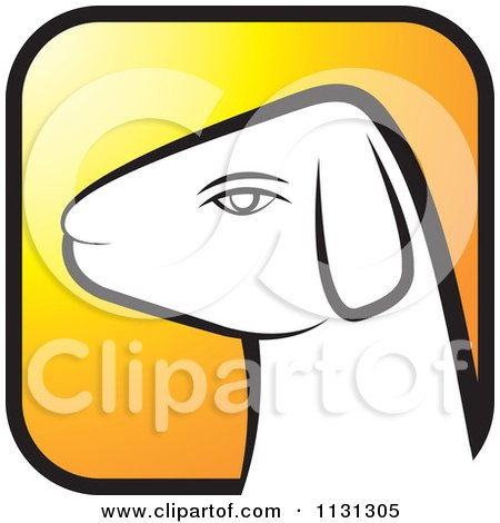 Clipart Of A Ram Goat Head Icon 2 - Royalty Free Vector Illustration by Lal Perera