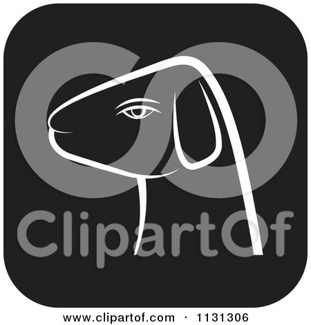 Clipart Of A Ram Goat Head Icon 3 - Royalty Free Vector Illustration by Lal Perera
