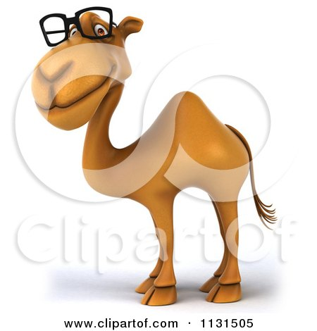 Clipart Of A 3d Camel Wearing Glasses - Royalty Free CGI Illustration by Julos