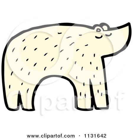 Cartoon Of An Arctic Polar Bear - Royalty Free Vector Clipart by lineartestpilot
