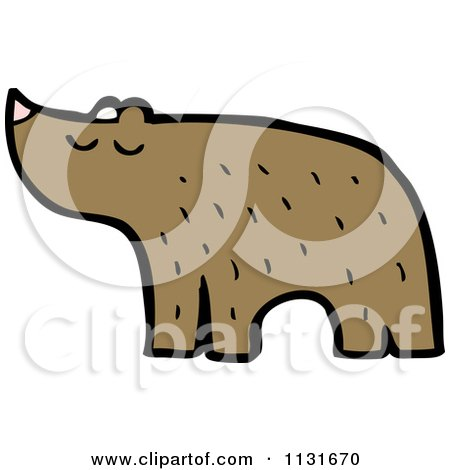 Cartoon Of A Brown Bear - Royalty Free Vector Clipart by lineartestpilot