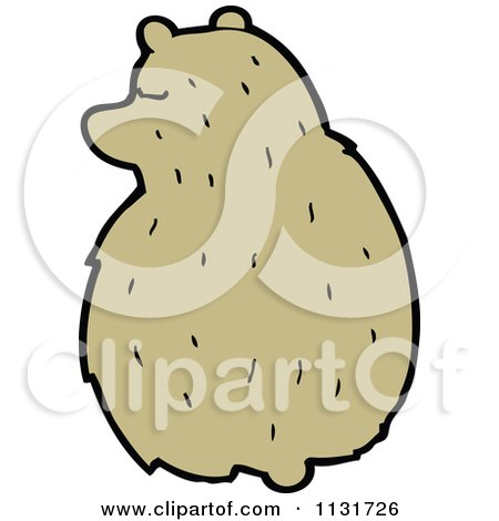 Cartoon Of A Sitting Hamster 3 - Royalty Free Vector Clipart by lineartestpilot
