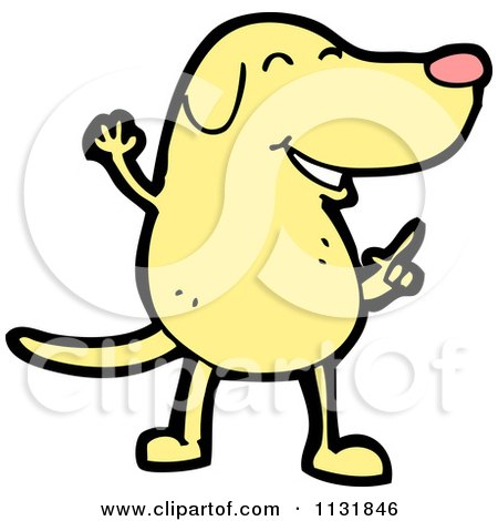 Yellow Dog Clipart Cartoon Of A Yellow Dog