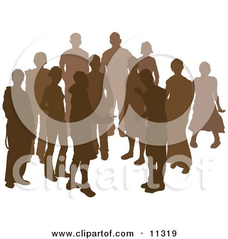 Group of Silhouetted People Posters, Art Prints