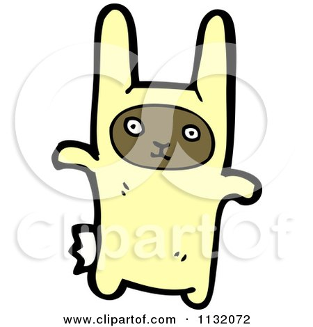 Cartoon Of A Boy In A Bunny Costume - Royalty Free Vector Clipart by lineartestpilot