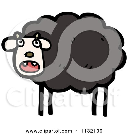 Cartoon Of A White Sheep - Royalty Free Vector Clipart by ...
