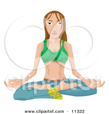 Young Hippy Woman Seated in the Lotus Yoga Position Posters, Art Prints