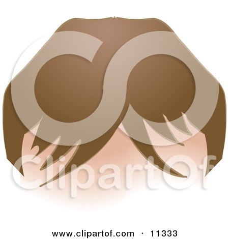 Person's Forehead With Hair and Bangs Clipart Illustration by AtStockIllustration