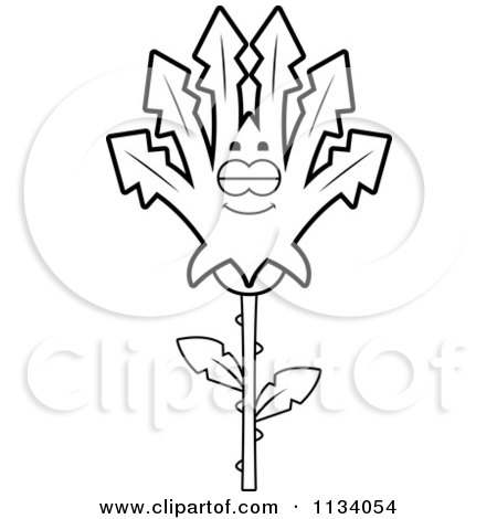 Cartoon Clipart Of An Outlined Sleeping Marijuana Pot Leaf Mascot - Black And White Vector Coloring Page by Cory Thoman