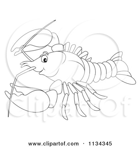 Cartoon Of A Cute Outlined Bee - Royalty Free Clipart by Alex Bannykh