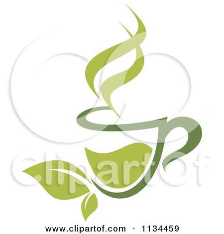 Clipart Of A Cup Of Green Tea Or Coffee 4 - Royalty Free Vector Illustration by Vector Tradition SM
