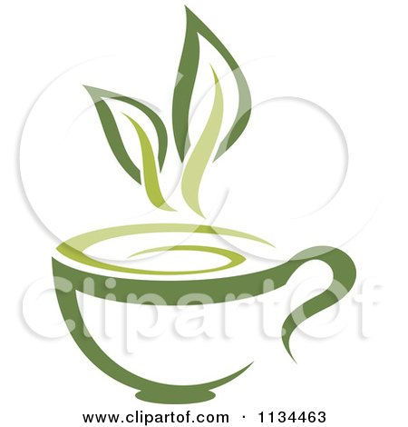 Clipart Of A Cup Of Green Tea Or Coffee 1 - Royalty Free Vector Illustration by Vector Tradition SM