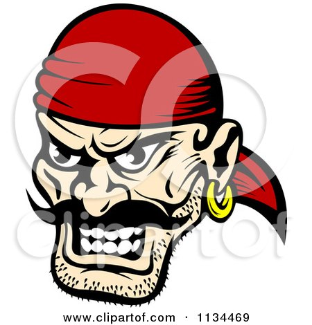 Pirate face vector - photo#16
