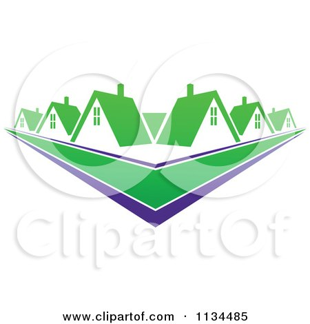 Clipart Of Houses With Roof Tops 13 - Royalty Free Vector Illustration by Vector Tradition SM