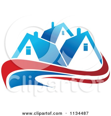 Clipart Of Houses With Roof Tops 14 - Royalty Free Vector Illustration by Vector Tradition SM