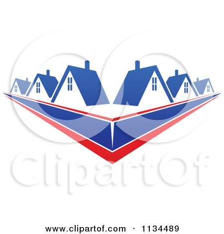 Clipart Of Houses With Roof Tops 11 - Royalty Free Vector Illustration by Vector Tradition SM