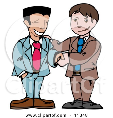 Two Businessmen Shaking Hands Posters, Art Prints