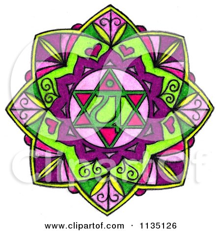 Clipart Of A Colorful Heart Chakra - Royalty Free Illustration by LoopyLand