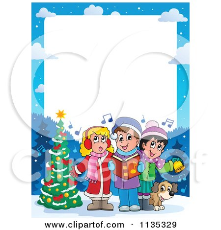 Christmas Carols on Children Singing Christmas Carols Frame Posters  Art Prints By