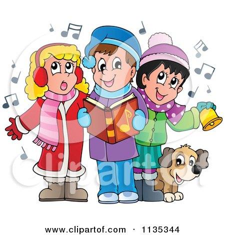 Kids Singing Clipart Children Singing Christmas
