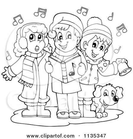 Children Singing Christmas Carols 1135344 on dog scarf